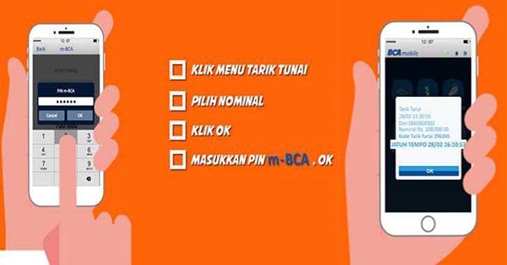 cara tarik tunai tanpa kartu ATM BCA atau Paspor BCA