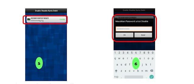 Cara disable dan enable kartu ATM BRI via internet banking