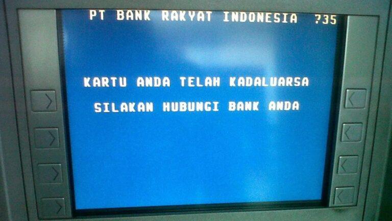 Kartu ATM BRI kedaluwarsa