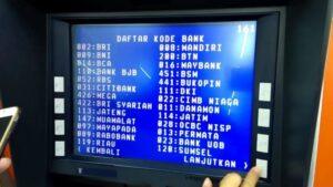Kode bank untuk transfer antarbank