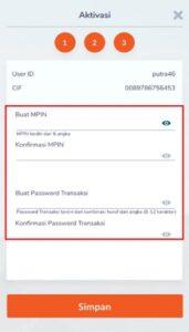 Buat MPIN dan Password Transaksi