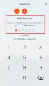 Konfirmasi kode registrasi