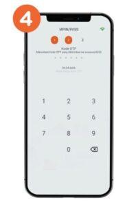 Memasukkan OTP ke aplikasi BNI m-banking