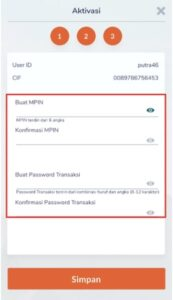 Bikin MPIN dan Password Transaksi