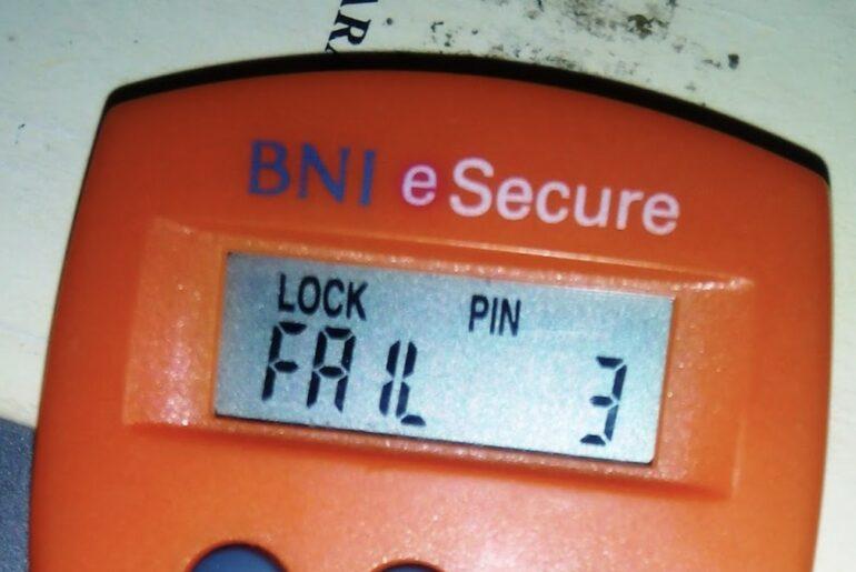 Cara mengatasi token BNI terblokir (LOCK PIN FAIL 3)