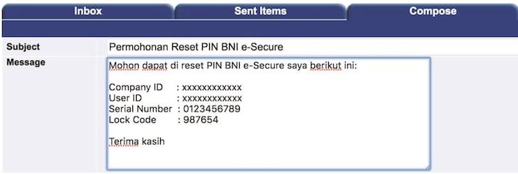 Kirim pesan ke BNIdirect