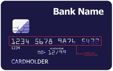 Letak nomor kartu debit